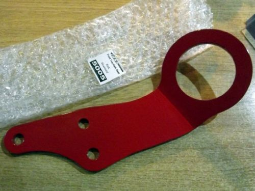 Tow hook, front, s/s, red, reversed, Mazda MX-5, steel, JASS Performance
